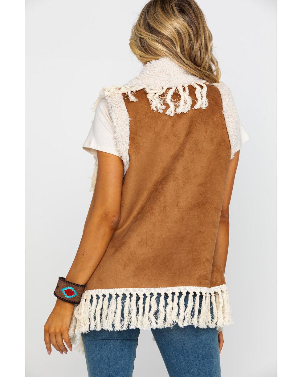 Honey Creek by Scully Women's Faux Fur Embellished Fringe Vest , , hi-res