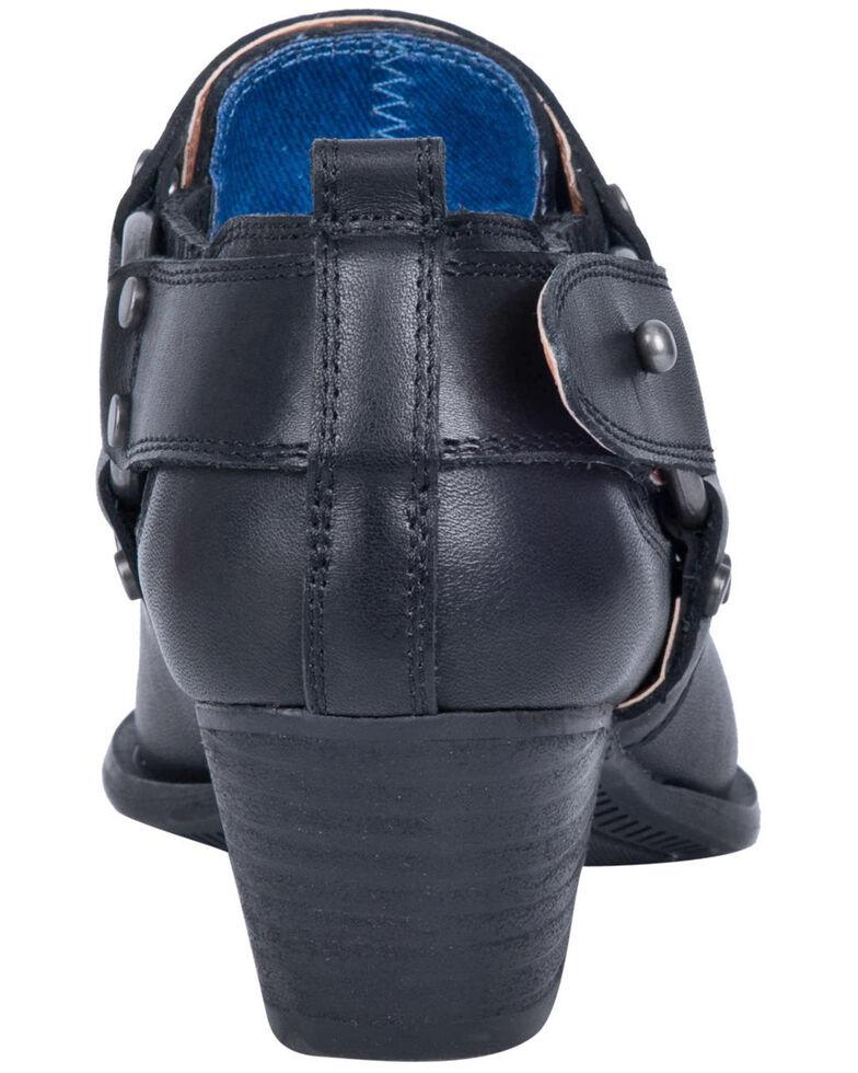 Dingo Women's Black Kickback Fashion Booties - Snip Toe, Black, hi-res