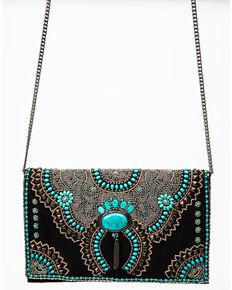Mary Frances Women's Squash Blossom Crossbody Handbag, Black, hi-res