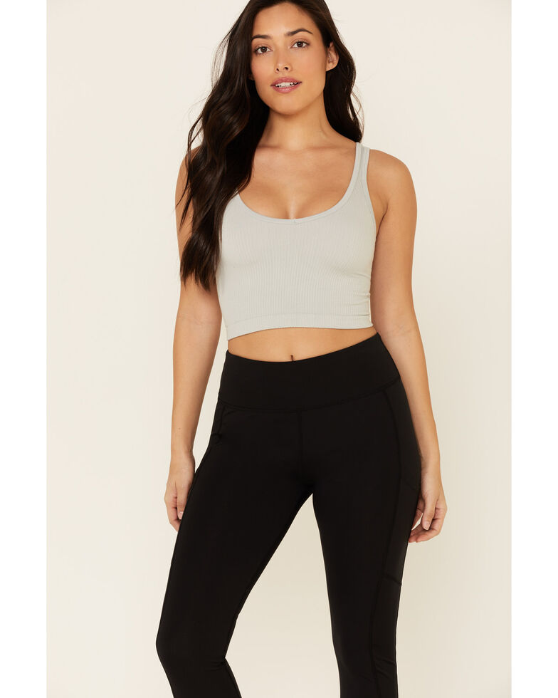 Fornia Women's High Waist Leggings With Side Pockets, Black, hi-res