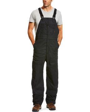 Ariat Men's FR Insulated Bib 2.0 Overalls - Big, Black, hi-res
