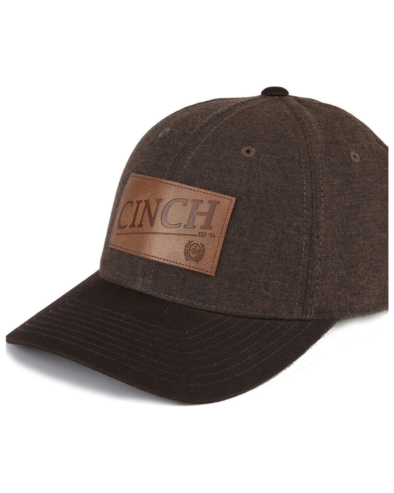 Cinch Men's Arena Flex Fit Ball Cap , Brown, hi-res
