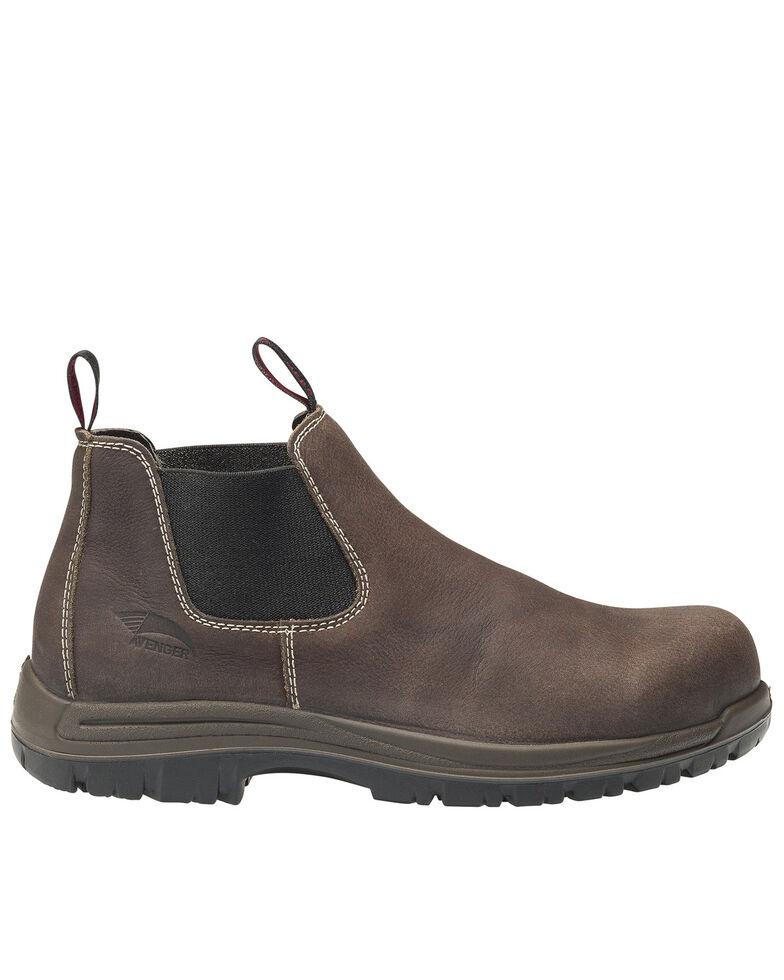 Avenger Men's Brown Foreman Pull-On Work Boots - Composite Toe, Brown, hi-res
