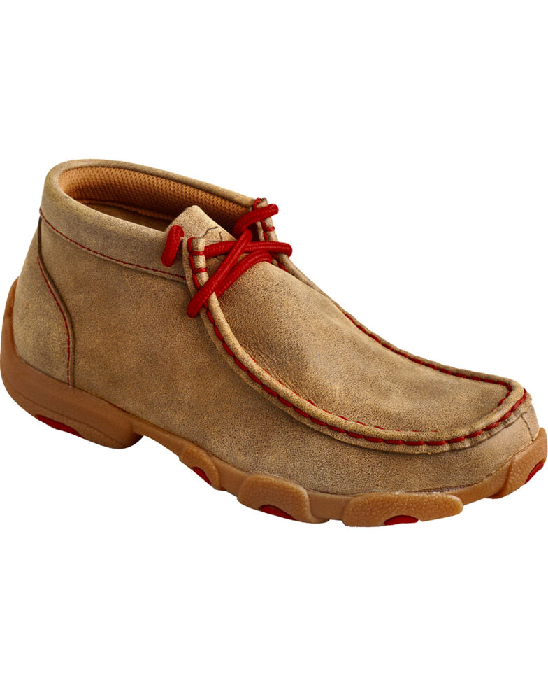 Twisted X Kids' Solid Driving Mocs, Bomber, hi-res