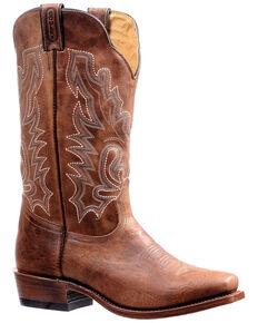 Boulet Men's Cutter Toe Western Boots, Brown, hi-res
