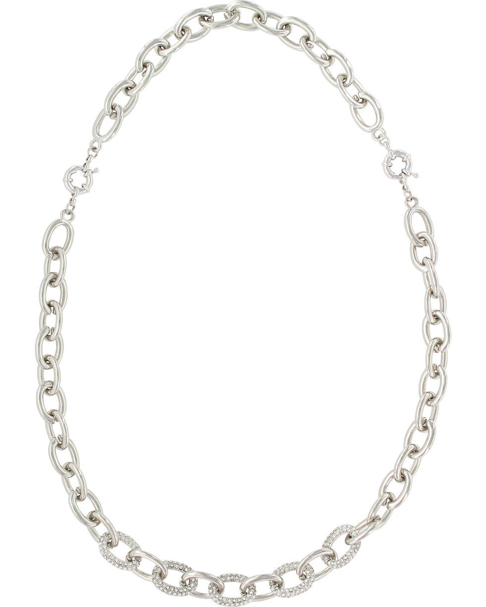 Montanan Silversmiths Women's Silver Convertible Link Necklace , Silver, hi-res