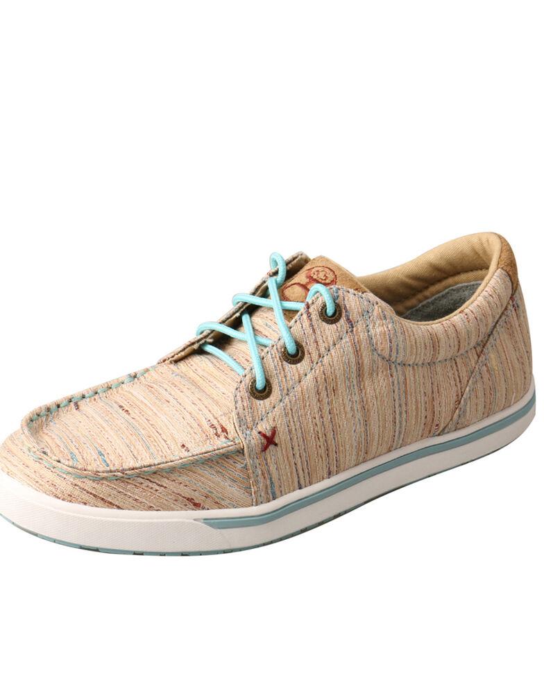 Twisted X Women's HOOEy Loper Textured Tan Sneakers, Peach, hi-res
