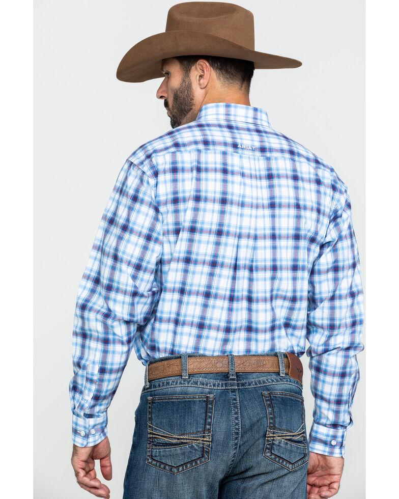 Ariat Men's Gilroy Multi Small Plaid Long Sleeve Western Shirt - Tall , Multi, hi-res
