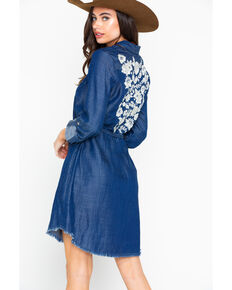 Stetson Women's Floral Back Dress, Indigo, hi-res