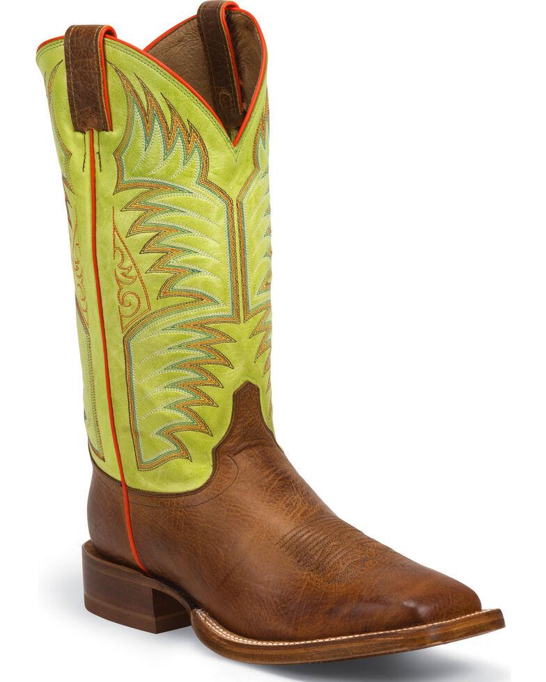 Justin Cognac Delta Stampede CPX Cowboy Boots - Square Toe , Cognac, hi-res