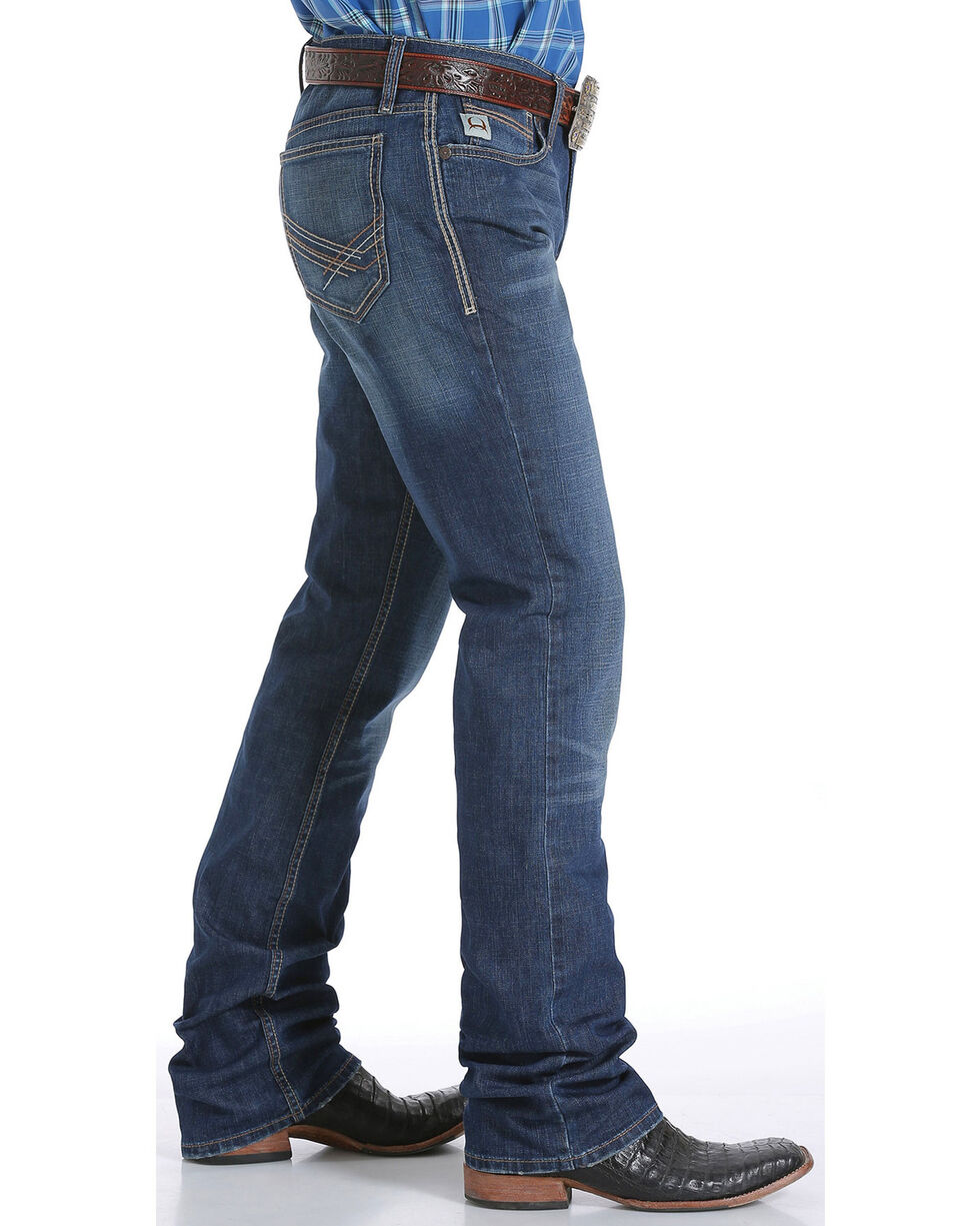 Cinch Men's Dark Wash Boot Cut Jeans, Indigo, hi-res