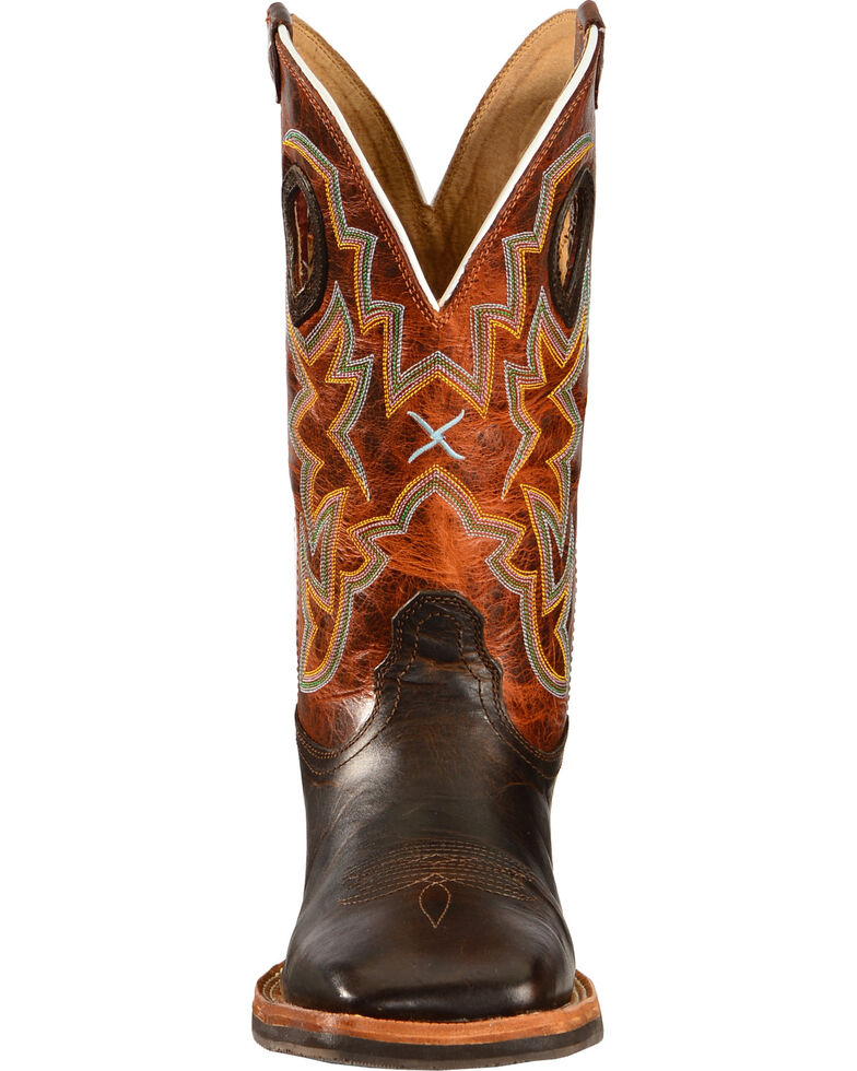 """Twisted X Men's Horseman 12"""" Western Boots, Chocolate, hi-res"""