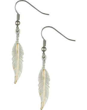 Montana Silversmiths Women's Dream Feathers Dangle Earrings, Silver, hi-res