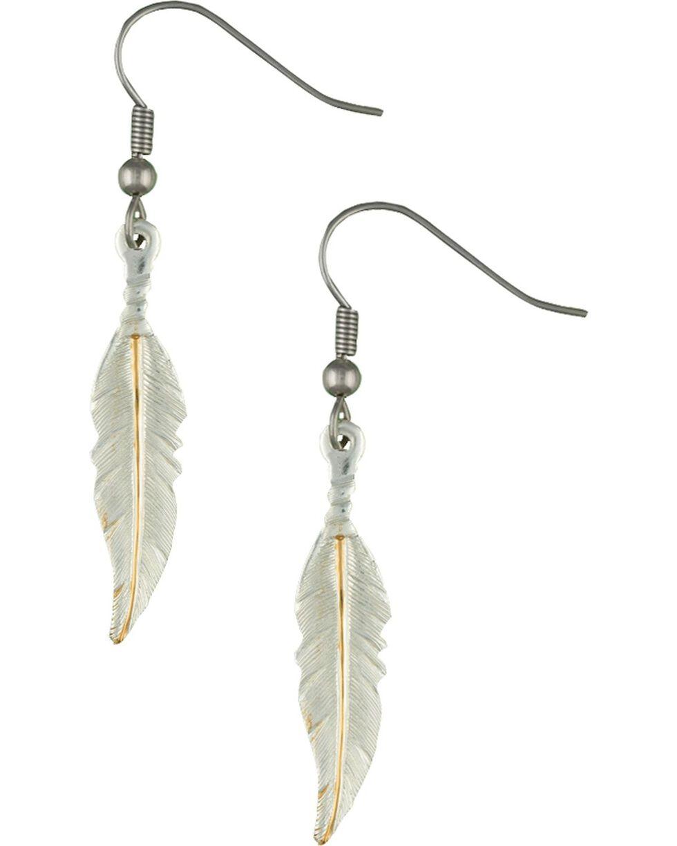 Montana Silversmiths Women's Dream Feathers Dangle Earrings, Silver, hi-res