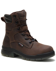 Wolverine Men's Ramparts Work Boots - Composite Toe, Dark Brown, hi-res