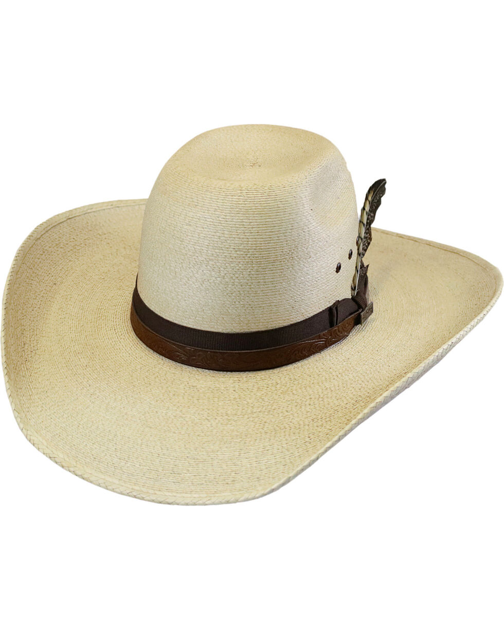 Larry Mahan 30X Hodge Palm Leaf Cowboy Hat , Natural, hi-res