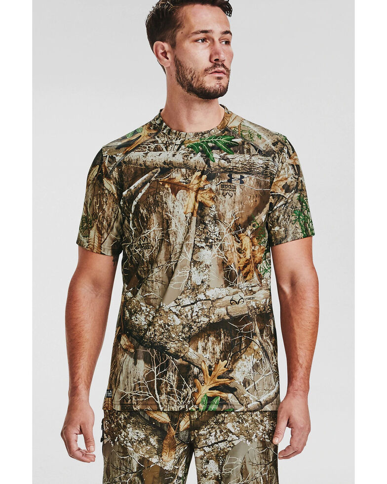 Under Armour Men's Realtree Iso-Chill Brushline Short Sleeve Work Shirt , Camouflage, hi-res