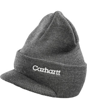 Carhartt Men's Winter Knit Hat, Charcoal Grey, hi-res