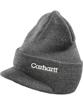 Carhartt Men's Winter Knit Hat, Charcoal Grey, hi-res