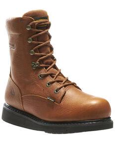 Wolverine Men's Hazard Durashocks Work Boots - Soft Toe, Brown, hi-res