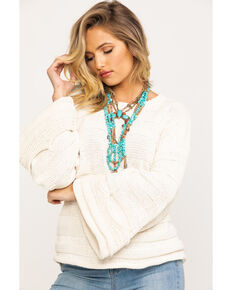Show Me Your Mumu Women's Cream Tulsa Knit Stripe Sweater , Cream, hi-res