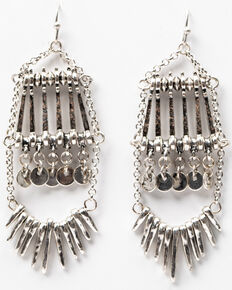 Idyllwind Women's We Don't Follow The Rules Earrings, Silver, hi-res