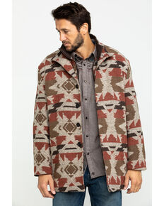 Cripple Creek Men's Grey Navajo Blanket Coat , Tan, hi-res