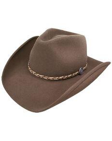 Stetson Rawhide 3X Crushable Buffalo Fur Felt Hat, Mink, hi-res