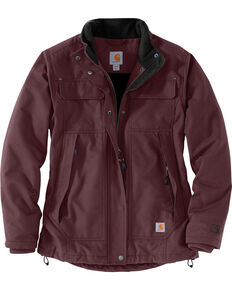 Carhartt Women's Quick Duck Jefferson Traditional Jacket , Wine, hi-res