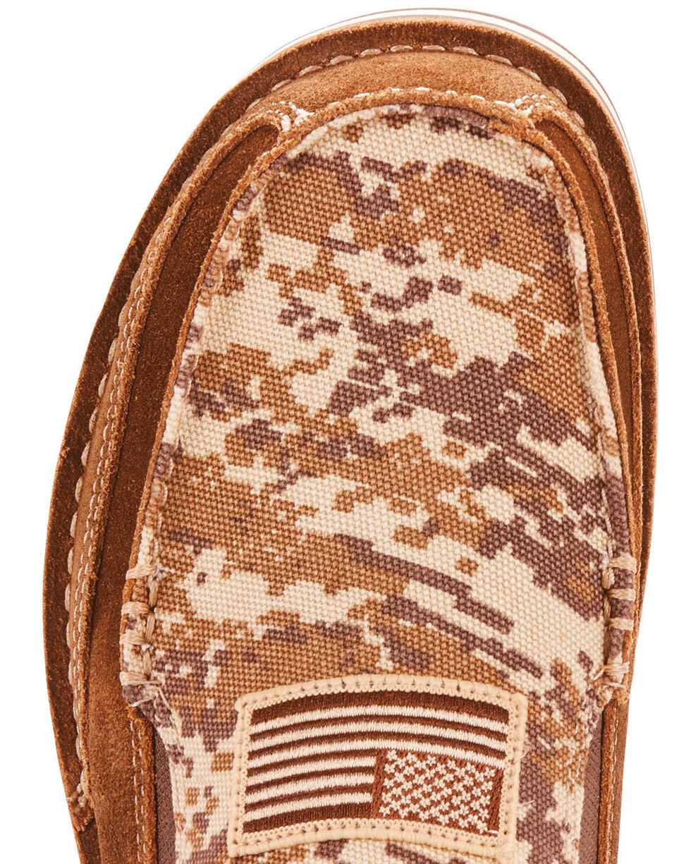 Ariat Men's Cruiser Patriot Flag Patch Shoes - Moc Toe, Brown, hi-res