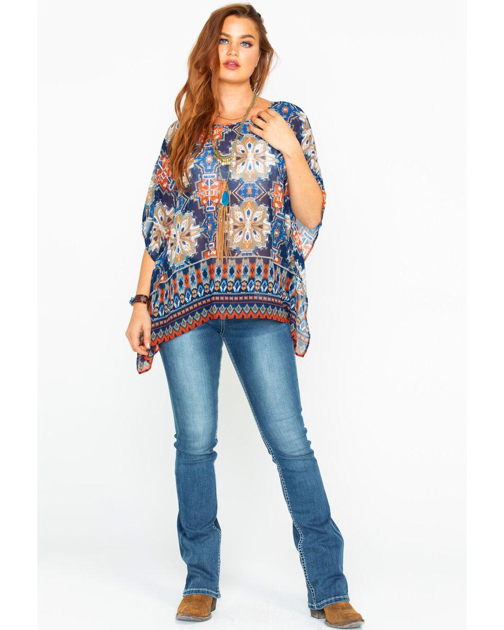 Ariat Women's Wondrous Multi-Print Tunic Top , Multi, hi-res
