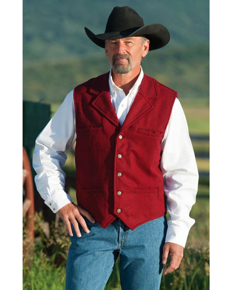 Schaefer Men's 707 McClure Wool Vest, Red, hi-res