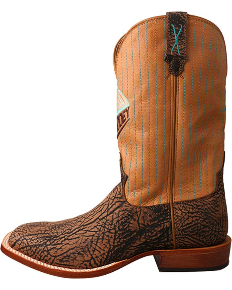 Twisted X Men's HOOey Bull Hide Western Boots, Brown, hi-res