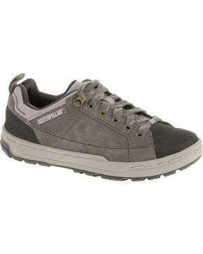 CAT Women's Brode Suede Steel Toe Oxford Work Shoes, Grey, hi-res