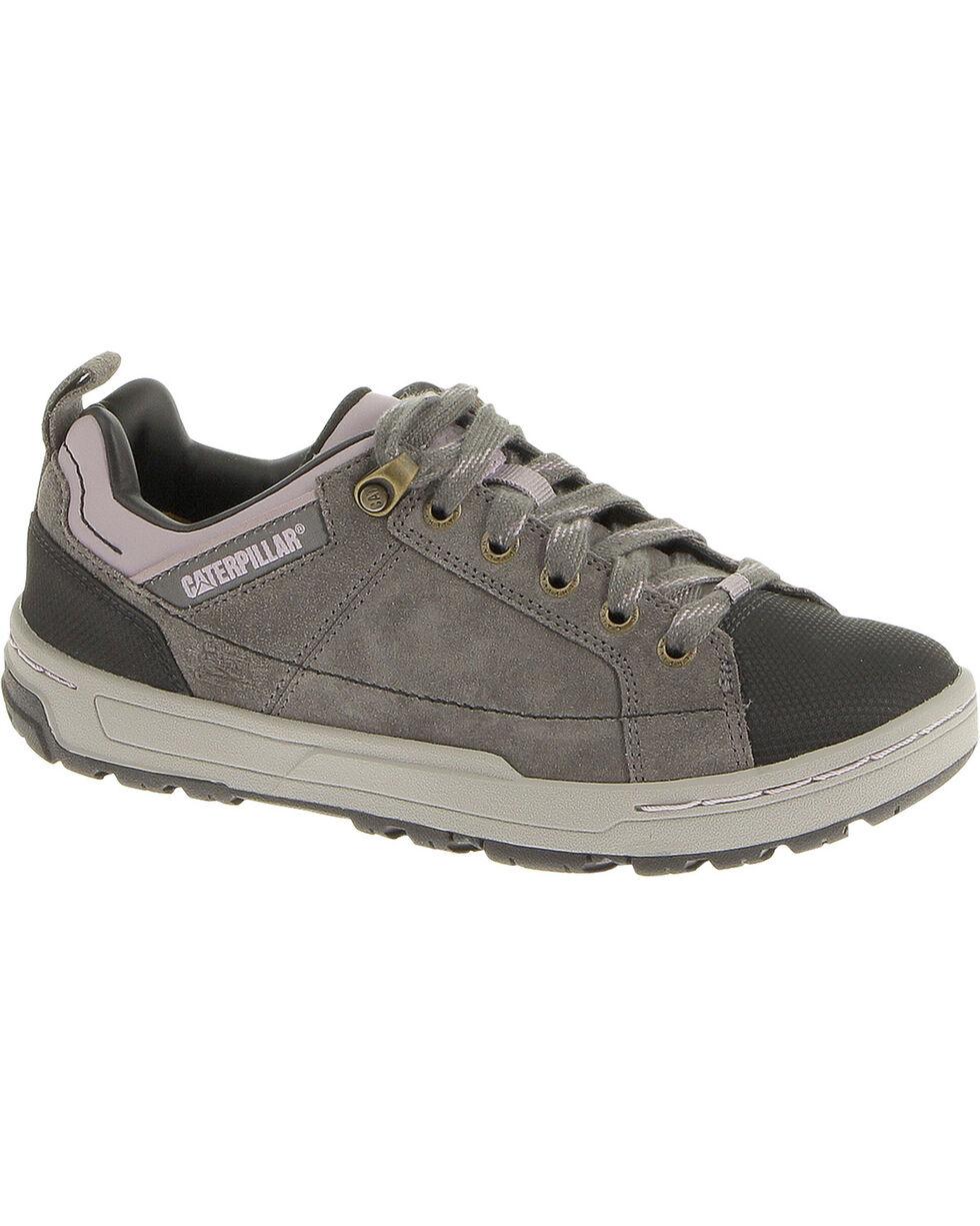 CAT Women's Brode Suede Steel Toe Oxford Work Shoes, Grey, hi-res