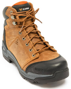 Hawx Men's Lace To Toe Hiker Boots - Nano Composite Toe, Brown, hi-res