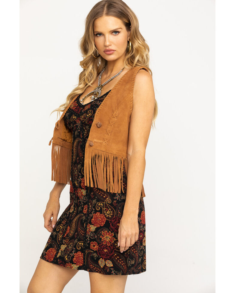 Idyllwind Women's Day Trip Vest, Brown, hi-res