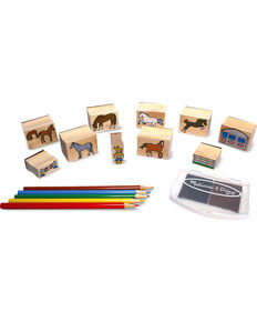 Melissa & Doug Kids' Wooden Horses Stamp Set, No Color, hi-res