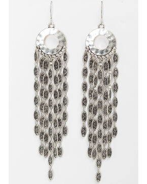 Shyanne Women's Linear Mini Hoop Multi Chain Earrings, Silver, hi-res