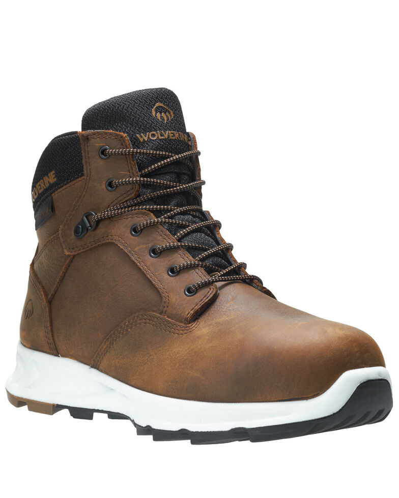 Wolverine Men's Shiftplus LX Work Boots - Alloy Toe, Brown, hi-res