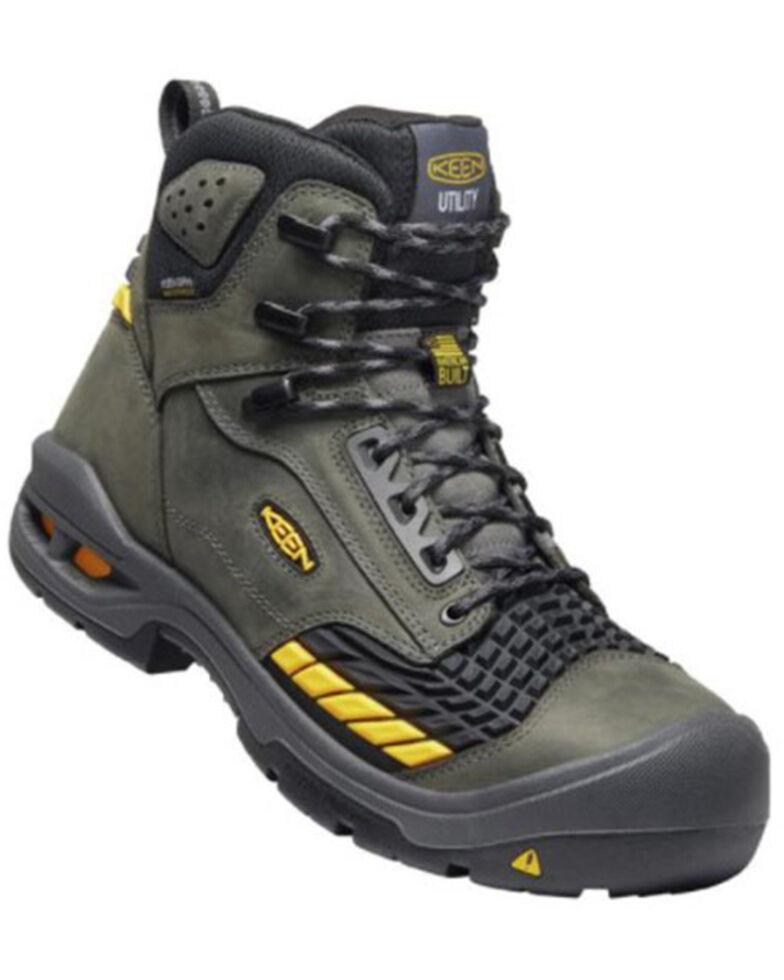 Keen Men's Troy Grey Waterproof Work Boots - Soft Toe, Grey, hi-res