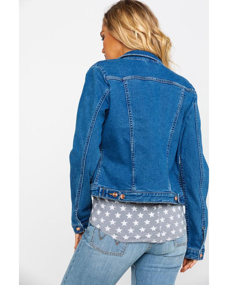 Wrangler Women's Heritage Zip Front Denim Jacket , Indigo, hi-res