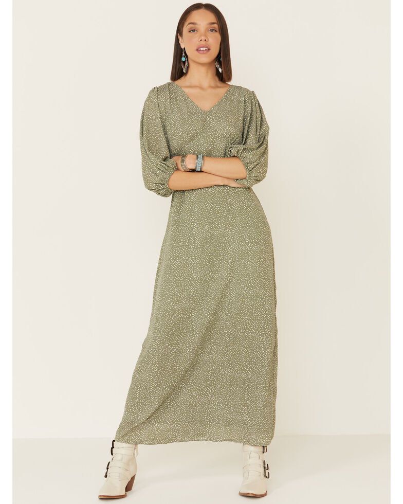 Mikarose Women's Isla Dot Dress, Sage, hi-res