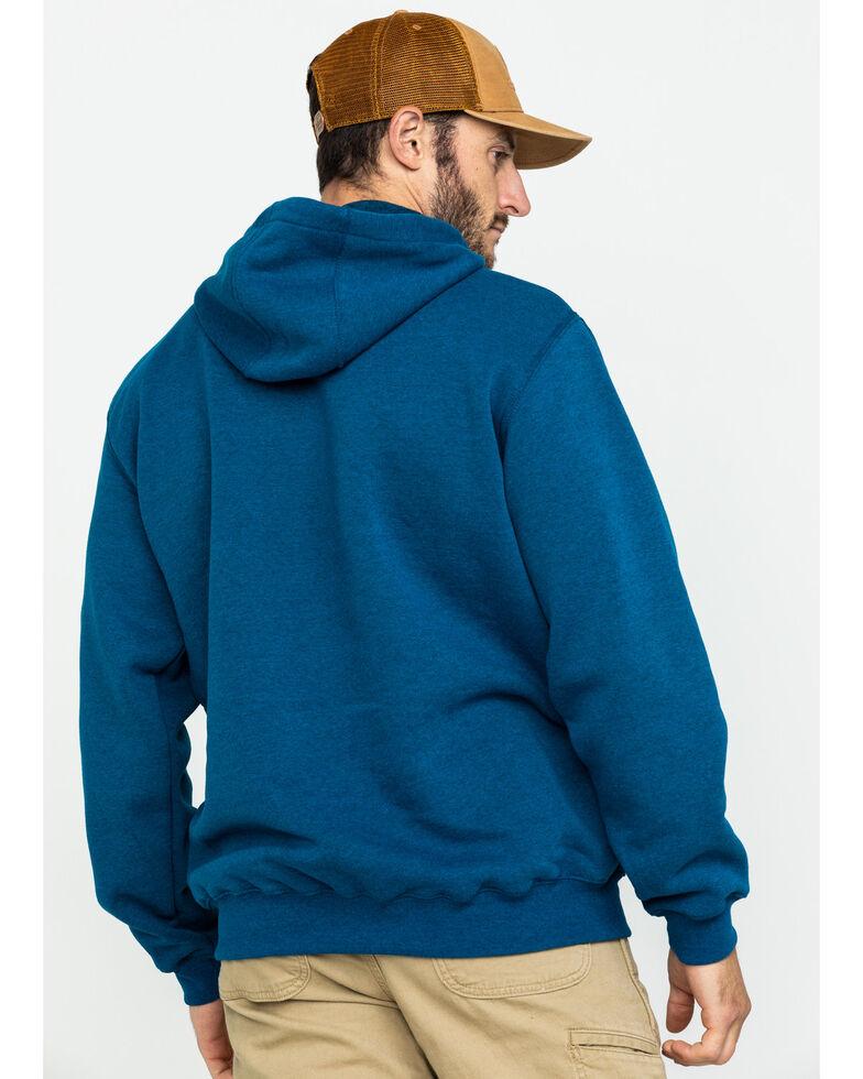 Carhartt Men's Mid Weight Hooded Logo Work Sweatshirt , Heather Blue, hi-res