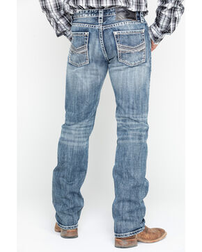Rock & Roll Cowboy Men's Denim Reflex Revolver Slim Straight Jeans, Blue, hi-res