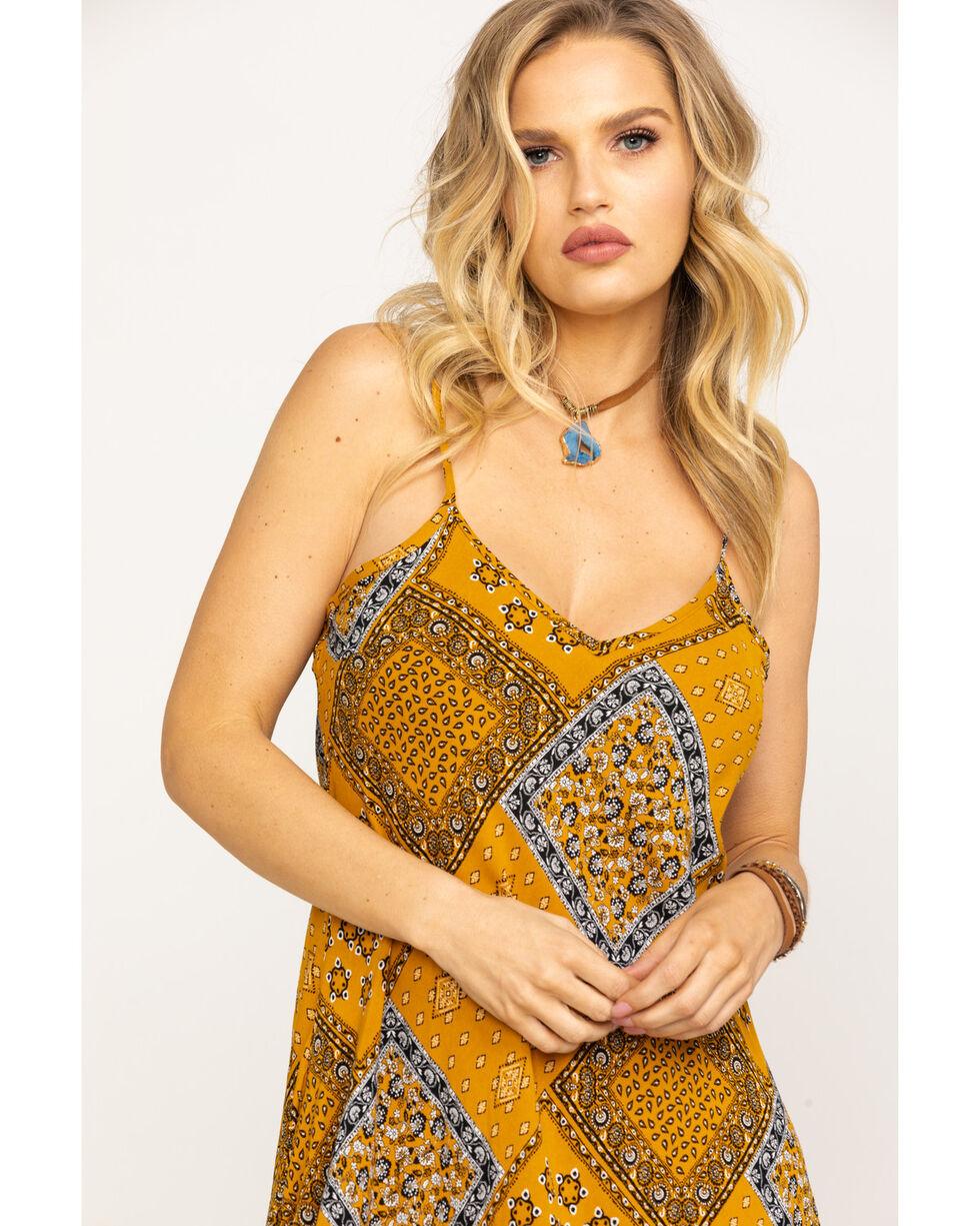 Nikki Erin Women's Patchwork Slip Dress, Dark Yellow, hi-res