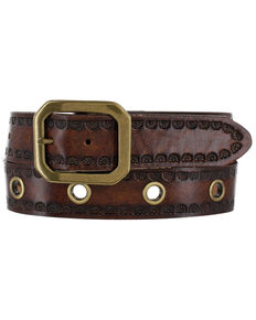 Justin Men's Rancho Viejo Western Belt, Tan, hi-res