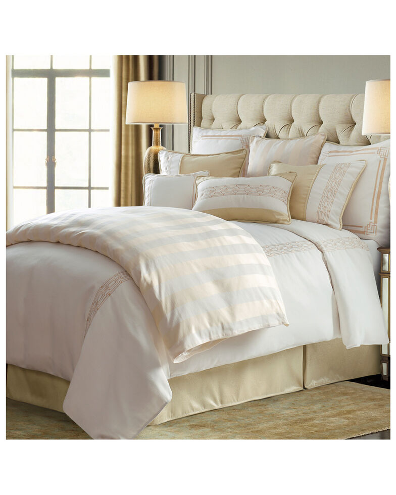 HiEnd Accents Queen Hollywood Comforter Set, Cream, hi-res