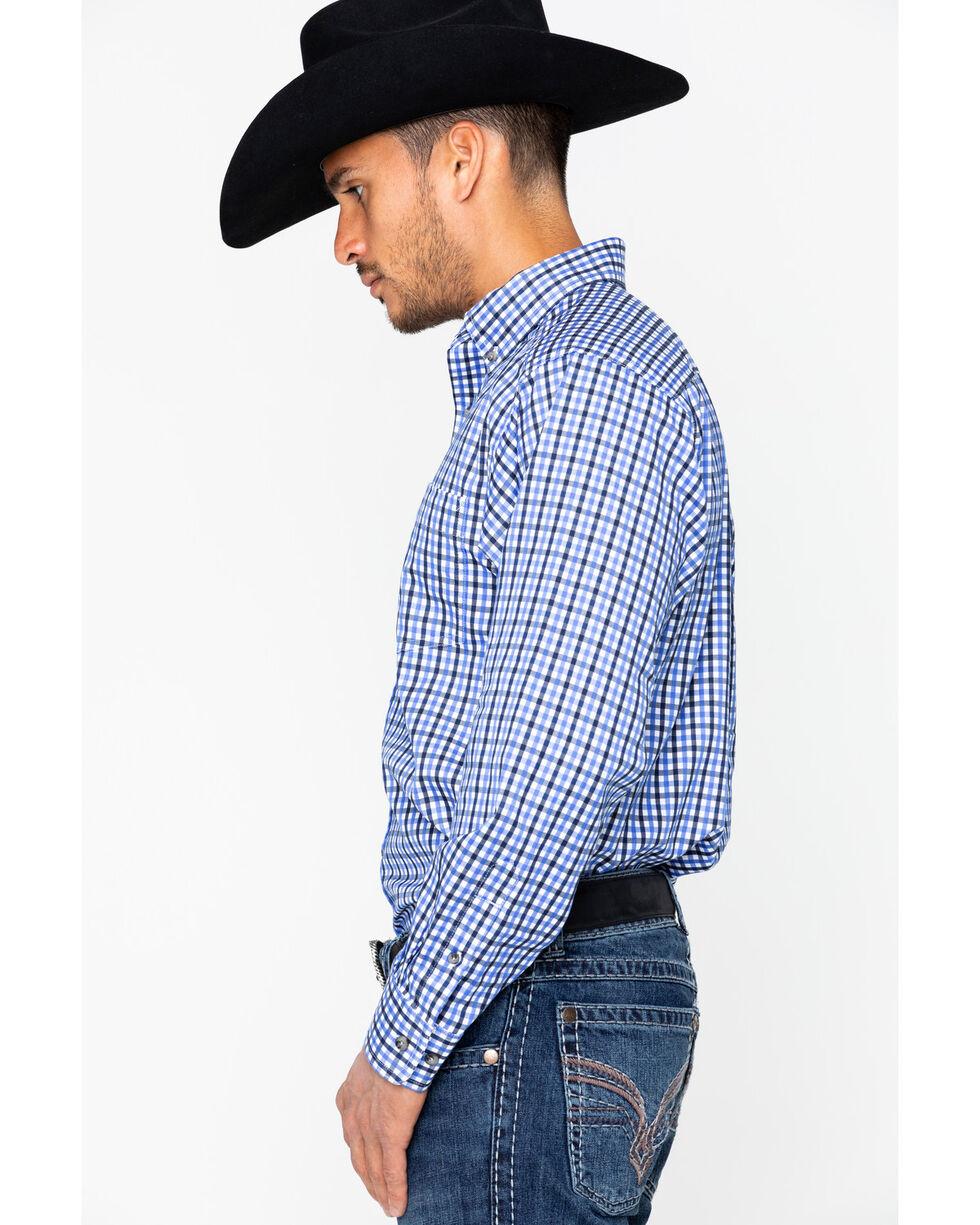 Ariat Men's Talbott Long Sleeve Shirt, White, hi-res