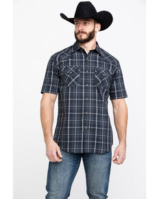 Pendleton Men's Frontier Plaid Short Sleeve Western Shirt , Grey, hi-res